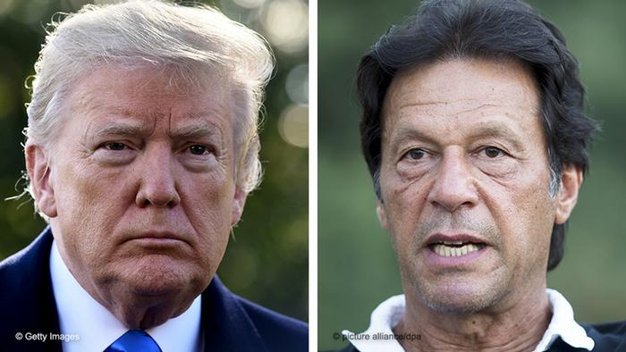 US President Trump and Pakistani PM Khan
