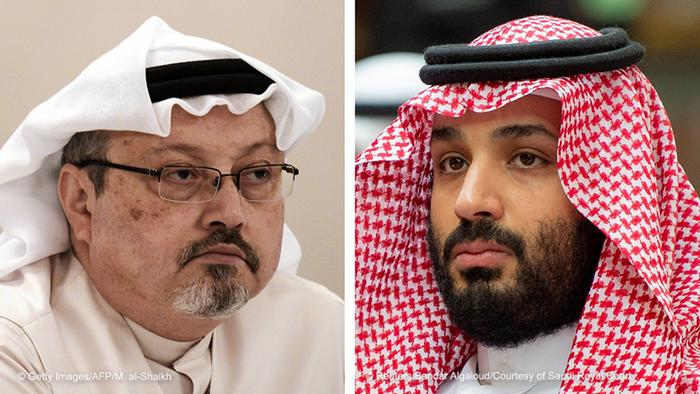 Journalist Jamal Khashoggi and Saudi Crown Prince Mohammed bin Salman