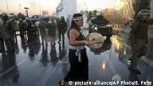 Chile Proteste der Mapuche nach Polizeigewalt in Santiago