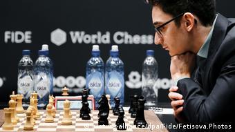 Schachweltmeisterschaft 2018 | Magnus Carlsen vs. Fabiano Caruana | 7. Partie (picture-alliance/dpa/Fide/Fetisova.Photos)