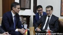 Marokko Treffen Saad Eddine el-Othman mit Pedro Sanchez (picture-alliance/AP Photo)
