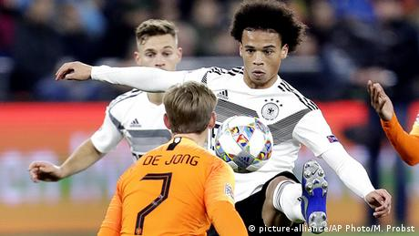 UEFA Nations League Deutschland - Niederlande Leroy Sane (picture-alliance/AP Photo/M. Probst)