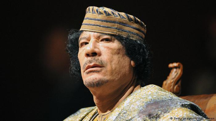 2011 yılında öldürülen Muammer Kaddafi