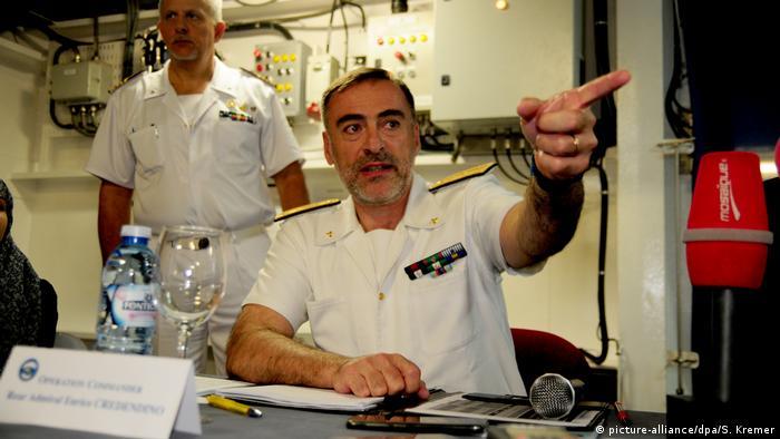 Kommandant EU-Mission Sophia Konteradmiral Enrico Credendino