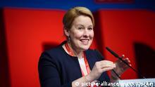 Deutschland Landesparteitag der Berliner SPD - Franziska Giffey