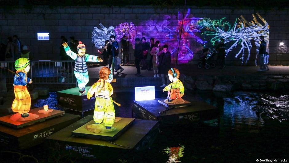 korean lantern festival lights up seoul all media. Black Bedroom Furniture Sets. Home Design Ideas