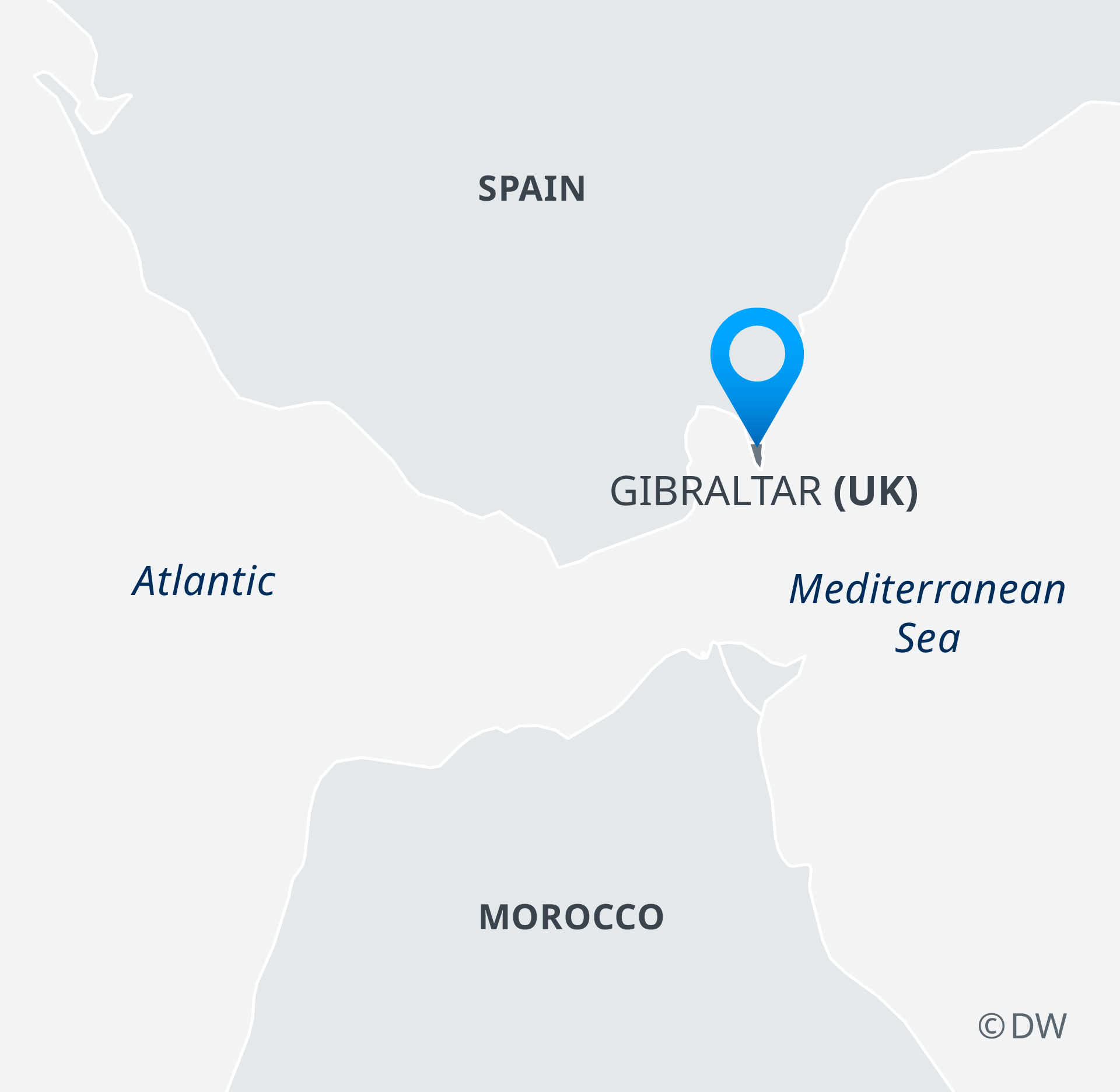Map Of Spain Gibraltar And Morocco.Spain Threatens To Vote No On Brexit Deal Over Gibraltar News Dw