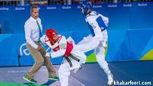 Iranische Sportler bei Teakwondo WM
