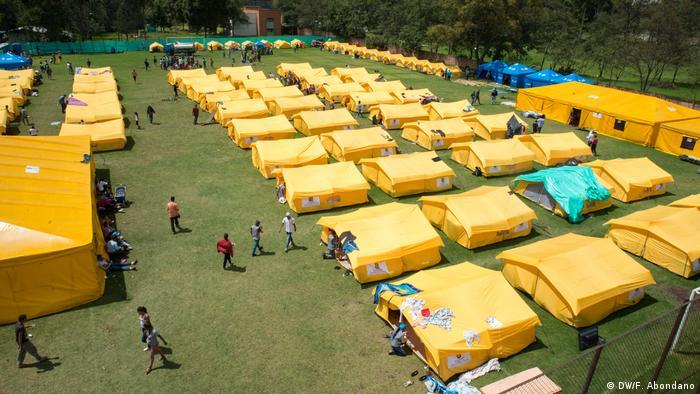 Kolumbien Bogota Flüchtlingslager für Venezolaner