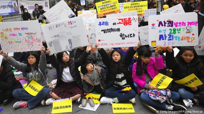 Comfort women protest in South Korea