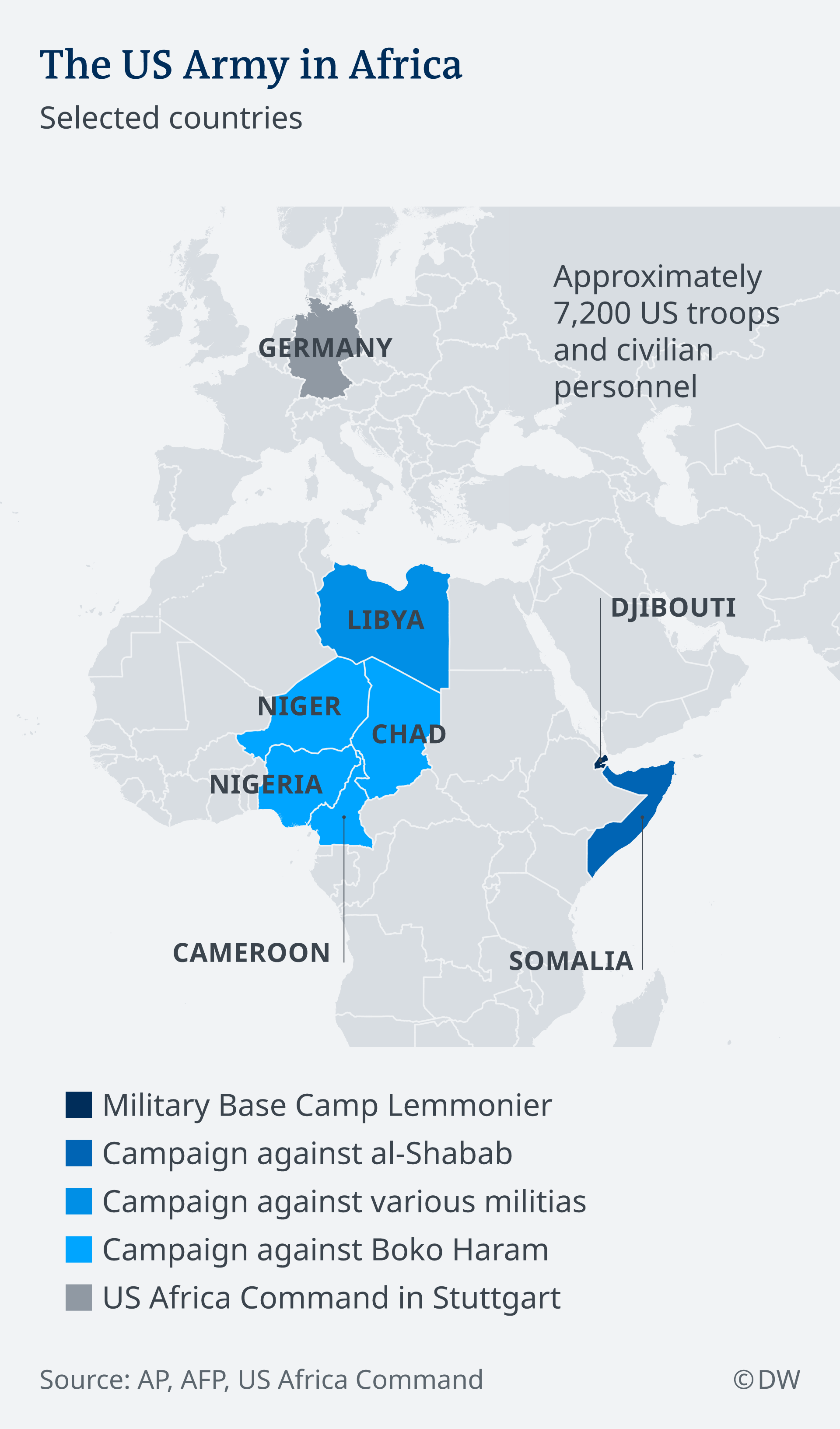US reduces troops in Africa, changes focus on training ...
