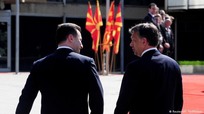 Ungarn Mazedonien Orban mit Ex-Premierminister Gruevski in Skopje Archiv