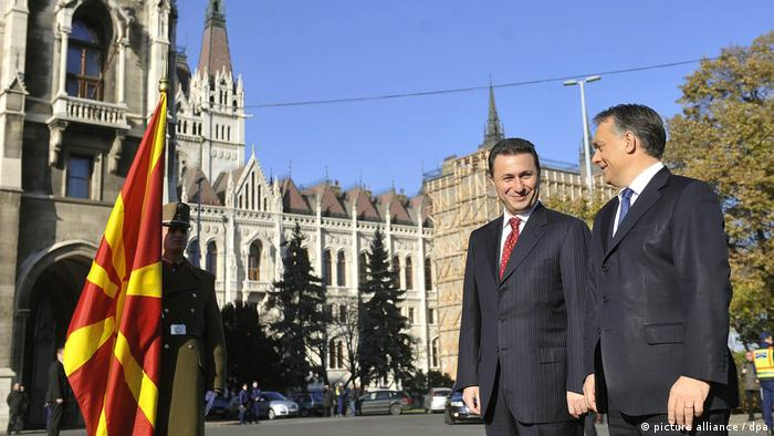 File photo of Nikola Gruevski and Viktor Orban in Budapest