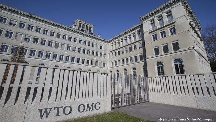 Hauptgebäude der WTO in Genf (picture-alliance/Xinhua/Xu Jinquan)