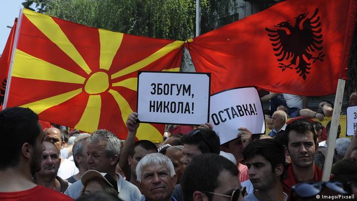 Mazedonien Proteste gegen die Regierung in Skopje (Imago/Pixsell)