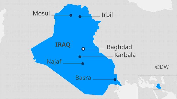 Karte Irak EN
