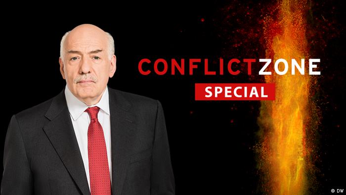 Tim Sebastian on Conflict Zone (DW)