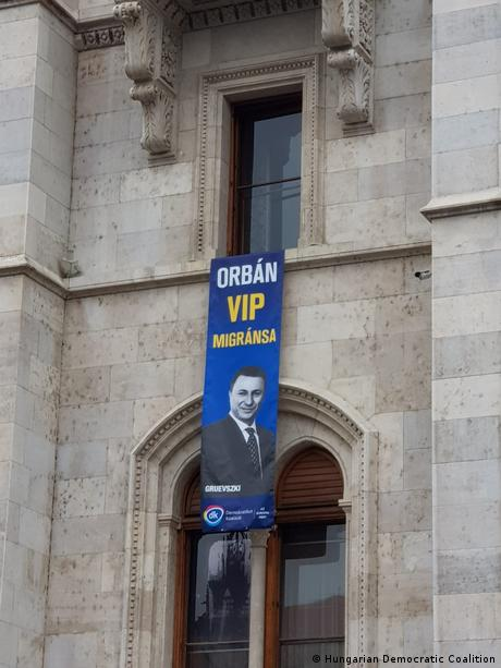 Transparent mit dem Bild von Nikola Gruevski