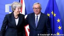 Belgien, Brüssel: Theresa May und Jean-Claude Juncker verhandeln den Brexit