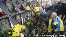 Ukraine, Kiew: Gedenken an Maidan-Proteste