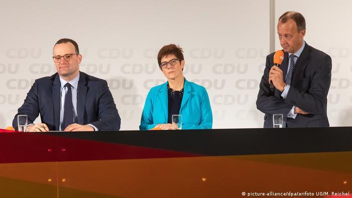 Jens Spahn, Annegret Kramp-Karrenbauer, Friedrich Merz