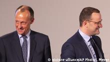 Friedrich Merz und Jens Spahn (picture-alliance/AP Photo/J. Meyer)