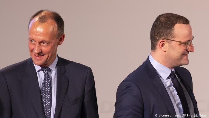 Friedrich Merz and Jens Spahn (picture-alliance/AP Photo/J. Meyer)