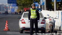 Symbolbild China Polizeiabsperrung