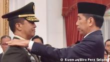 Ernennung von Andika Perkasa als Chef Generalstabes der indonesischen Landstreitkräfte durch Präsident Joko Widodo in Jakarta