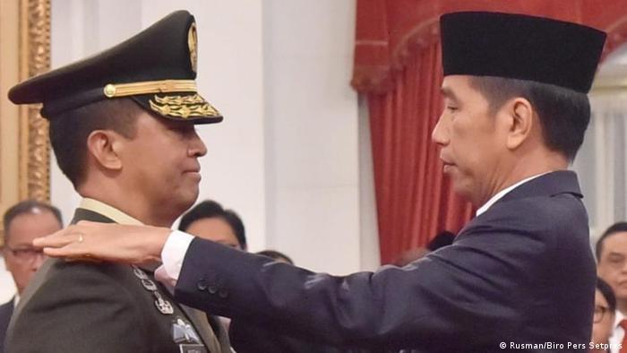 Andika Perkasa bersama Presiden Joko Widodo di Jakarta