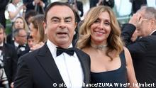Frankriech Nizza Renault-Nissan Boss Ghosn und seine Frau Carole Ghosn