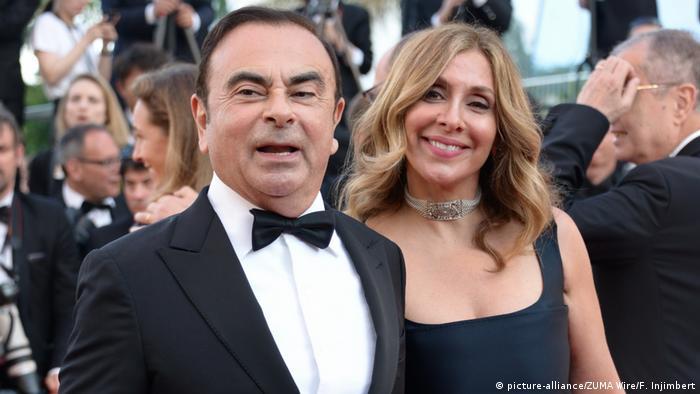 Frankriech Nizza Renault-Nissan Boss Ghosn und seine Frau Carole Ghosn
