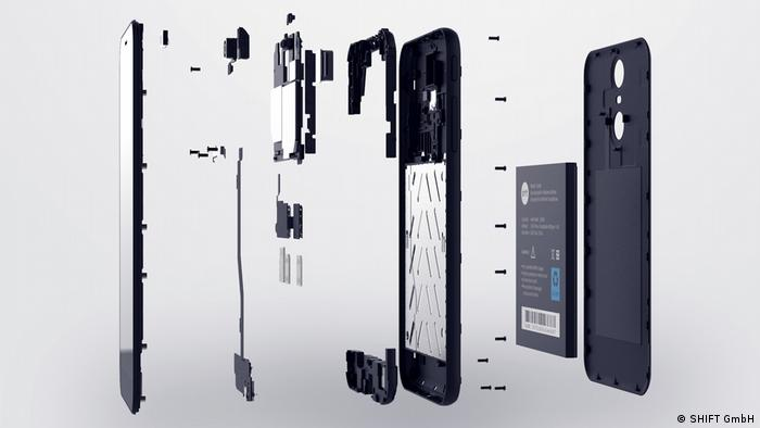 Shift smartphone components