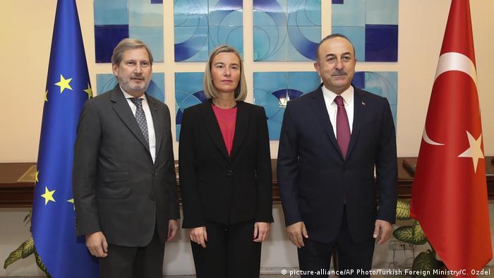 Türkei PK Hahn / Mogherini / Cavusoglu