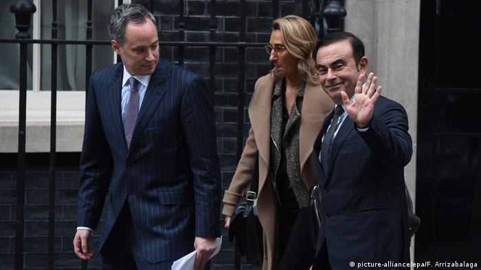 Großbritannien Carlos Ghosnbei Theresa May (picture-alliance/epa/F. Arrizabalaga)