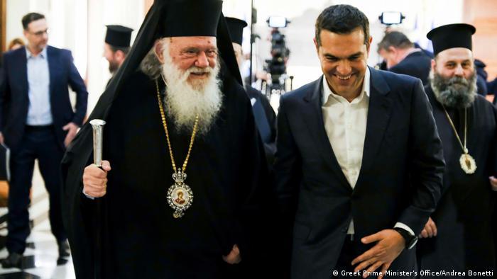 Ципрас и архиепископ Йеронимус Втори