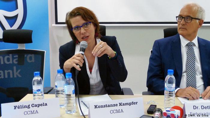 Mosambik Konstanze Kampfer und Detlev Wolter (DW/R. da Silva)