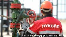 Russland Lukoil-Mitarbeiter
