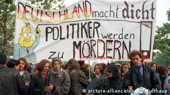 Deutschland 1993 | Protest gegen Änderung des Grundgesetzes in Bonn