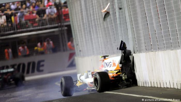 Formel 1 2008 - GP Singapur | Nelson Piquet Jr. (picture-alliance/ZUMA Press)