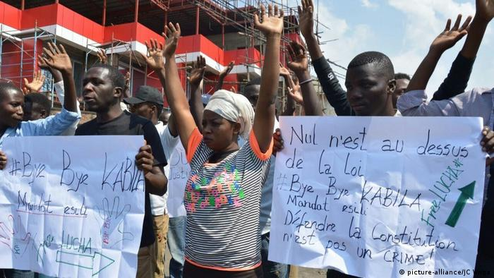 Political crisis in Democratic Republic of the Congo Demonstration Lucha (picture-alliance/JC Wnga)