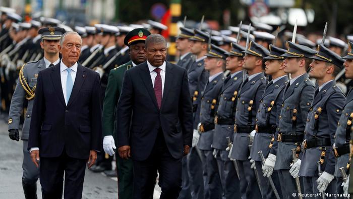 Angolanischer Präsident Joao Lourenco mit Portugals Präsident Marcelo Rebelo de Sousa