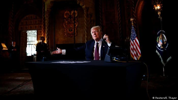 USA Florida Präsident Donald Trump in Mar-a-Lago, Palm Beach