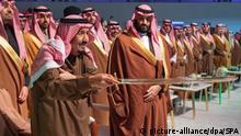 Saudi-Arabien König Salman bin Abdulaziz Al Saud & Kronprinz Mohammed bin Salman
