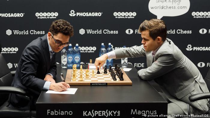 Schachweltmeisterschaft 2018 in London Magnus Carlsen - Fabiano Caruana