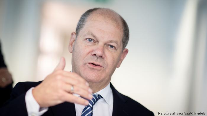 Bundesfinanzminister Olaf Scholz (picture-alliance/dpa/K. Nietfeld)