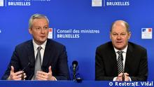 French Finance Minister Bruno Le Maire (left) and German Finance Minister Olaf Scholz (right)