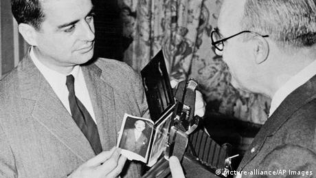Polaroid's Edwin H. Land and Charles B. Phelps