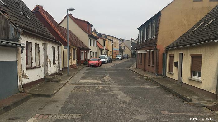 Deutschland Straße in Wolgast