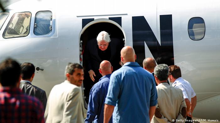 UN envoy Martin Griffiths on a visit to Sanaa